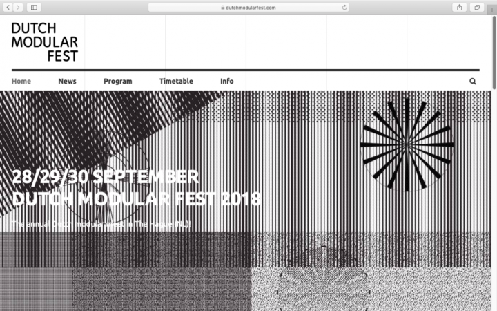 Visual identity Dutch Modular Fest 2018